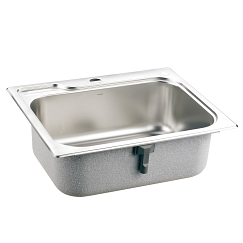 Moen single bowl stainless steel drop in sink
