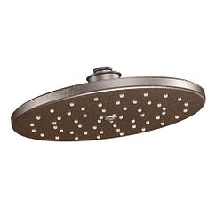 "Oil rubbed bronze one-function 10"" diameter spray head rainshower showerhead"